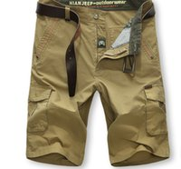 cargo shorts - Summer Mens Shorts Cargo Shorts Men Zipper Solid Many Pockets Jeep Men s Casual Pants Bags Slacks Men s Pants Shorts