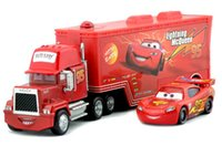 cars 2 diecast - 2pcs set Original PIXAR CARS No Mack Mcqueenes Diecast Metal Loose Toy Car Set