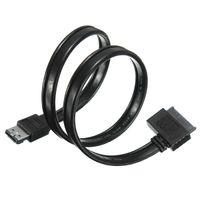 Cheap Brand New ESATA+USB Combo Port To SATA Slimline 7+6 Pin 13pin DVD Optical Drive Cable