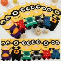 Wholesale Despicable me Minion women sock cartoon In tube socks new Fashion lady cotton Three dimensional Hosiery colors A