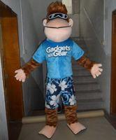 adult monkey suit - in kind shooting monkey in blue suits mascot costume adult monkey costume