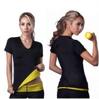 Wholesale NEW Saunafit Hot Thermal Neoprene Sport Slimming Vest Top Women Body Shaper T Shirt