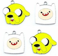 adventure time earrings - Mixed Adventure Time Finn Metal Charms Pendant Earrings Jewelry Making