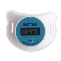 Wholesale High Quality Digital LCD Baby Care Infant Baby Nursling Temperature Gauge Nipple Thermometer Soft Safe Mouth Thermometer