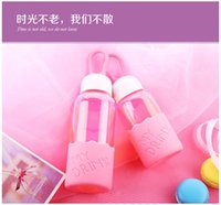 Wholesale Lovely creative gift water bottles for girls and women with high temperature ml ml pink green blue corlors