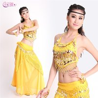 bellydancing costumes - Indian Dance Costumes Skirt Belt Top Girls Belly Dance Skirt For Bellydancing Adult Performance Dress Indian Dress From Factory