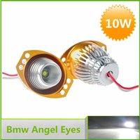 Wholesale pieces LED Angel Eye Cree W AC12 V LM Angel Eyes Headlights for Bmw E90 E91LCI