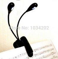 arm lampe - 300 lote noir Clip on Arms LED Flexible livre pupitre lampe Mini lumière livre pour la lecture