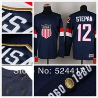 olympic hockey jerseys - stitched Olympic Team USA Derek Stepan Jersey Sochi Winter olympic Ice Hockey Jersey Blue white