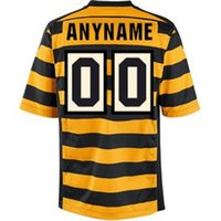 Wholesale Custom Amerian football Men s Elite Steelers jerseys any name and number High Quality and Cheap allow Mix Order