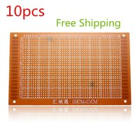 Wholesale 10pcs lotes TOP Quality PCB Prototyping Printed Circuit Board Breadboard Prototype Stripboard x15cm