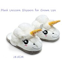Wholesale Plush Despicable Me Unicorn Slippers for GEEK Grown Ups Winter Warm Indoor Slippers Lover Gift Home Cosplay Shoes