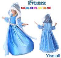 Wholesale Frozen Dresses Baby Girls Dresses Snowflakes Sequined Dres Frozen Elsa Anna Christmas Princess Dress Children Baby Girl Party Princess