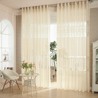 drapes curtains - White Coffee Jaquard Semi sheer Curtains Customer made Living Room Voile Sheer Curtains Drape Panel Height cm