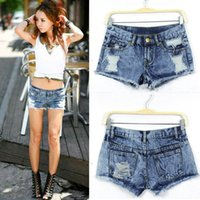 Wholesale New Women Summer Fashion Vintage Denim Low Waist Jean Shorts Hot Pants Just for you