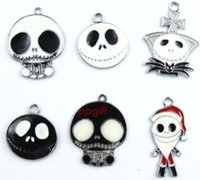 Cheap Lot 200pcs Mix Nightmare Before Christmas Charms Jewelry Making Pendants Earrings