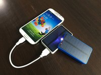 cell phone battery pack - Portable Solar Power Bank Powerbank LED Light External Battery Pack Solar Cell Phone Charger Backup for Mobile Phones