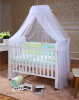 Cheap White Baby Infant Bed Canopy,Canopy-with-Mosquito-Net,Baby Cot Canopy Mosquito Net Inafant,Dome Curtain Net for Toddler Crib Cot