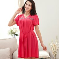Wholesale 2015 summer new explosion models cute girls fashion summer lace short sleeved woven cotton pajama suit
