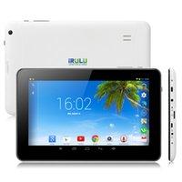 """Buque de EE.UU.! iRULU 9 """"tabletas Android Quad Core A33 de la tableta de 8 GB 512 MB de doble cámara capacitiva WiFi 9 pulgadas Tablet PC con Bluetooth"""