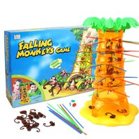 Wholesale 48set Family parent child Game DIY Falling Tumbling Monkeys Board Game of Skill Action Child Kids Toys Hobbies Parenting gift