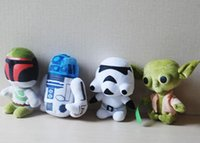Wholesale Star Wars quot Plush toys Darth Vader Stuffed doll with OPP cotton Super Deformed Boba robot Stormtrooper Stuffed Animals Soft Doll