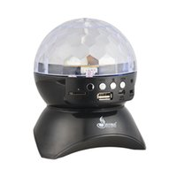 Wholesale 9W LED RGB MP3 music player format Rechargeable Auto Mini LED Crystal Magic Ball Stage Effect Light Blue tooth TF Radio Player LED Lights