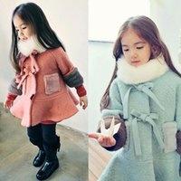 baby winter clothes - Wool Blends Woolen Jacket Winter Coats Babies Clothes Children Clothing Thicken Outwear Santa Christmas Hooded Overcoat Factory Free EMS