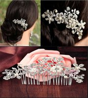 artificial flowers feather - Bridal Crown Tiara Wedding Jewelry Vintage Hair Accessoies Crystal Rhinestone Pearl Bridesmaid Hair Band Headpieces Wedding Hair Clips free