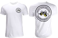 Round anderson silva t shirt - Summer man short sleeve t shirt Anderson Silva Muay Thai College Shirts