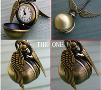 balls - harry potter golden snitch necklace pocket watch Harry Potter wings necklace harry potter watch necklace ball quartz pocket watch in stock