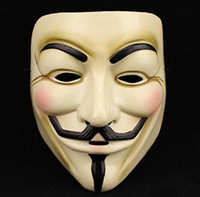 Wholesale Fashion V for VENDETTA Halloween Cosplay MASK Costume Guy Fawkes Anonymous mask for women and men party masks