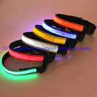 led glow products - 20pcs mixed colors Safety Dog Collar Pet Products Nylon LED Collar Light up Flashing Glow LED Collars S M L XL