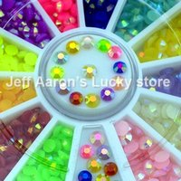 ab candy - Glitter Candy AB Colors D MM Acrylic Nail Art Rhinestones Wheel For Nail Tips Decorations Tools Accessories