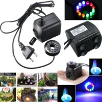 Wholesale 800L H GPH Submersible Water Pump For Aquarium Fish Tank Pond Fountain With LED Lights