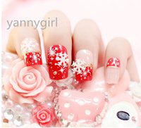 3d nail stickers - 24 PIECES FALSE NAIL ART STICKERS WITH CHRISTMAS SNOWFALKE FLOWER DECALS TIPS D DECORATION FOR FASHION GIRL