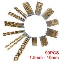 Wholesale High Quality Newest Set Titanium Coated HSS High Speed Steel Drill Bit Set Tool mm mm