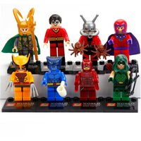 Wholesale Heroes Assemble Minifigures SY259 Loki Beast Magneto ANT MAN Green Arrow Building Blocks Sets Model Toys For Children