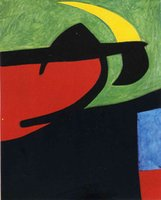 One Panel beautiful moonlight - Beautiful abstract art oil painting by Joan Miro Catalan Peasant in the Moonlight hand painted High quality