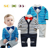 bebe brand clothing - New arriver Autumn baby boys clothing set gentleman Bow tie Long sleeve stripe suit bebe kids clothes sets baby wear