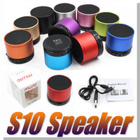 aluminum box - S10 Bluetooth Speaker Outdoor Speakers Handfree Mic Stereo Portable Speakers TF Card Call Function DHL No Logo In Retail Box
