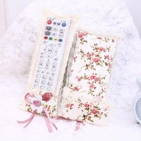 air products stock - Lace Flower Remote Control Storage Bags Household Air Conditioning TV Protective Dust Cover jacket Accessories Supplies Products