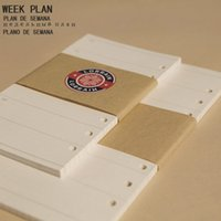 paper notebook - Creative fine spiral filler papers for notebook holl week plans format content fit for A6 A6 notebook core