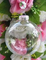 christmas glass ball ornaments - Christmas Ball quot Clear Glass Ornament Balls mm Silver Tops Wedding Christmas Party Decoration