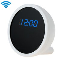 Wholesale 2015 New Full HD Alarm wifi Clock Camera with Real Time View Function Cool Smartphone Wi Fi camera Spy Monitor Clock SPC_504