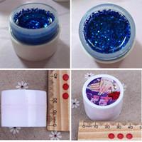 Art Nail 24 Pots Fluorescent Glitter Color Builder Glitter Gel UV Gel à ongles brillant Gel à la mode Vernis à ongles Livraison gratuite