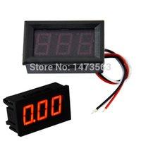 Wholesale NEW Red LED Panel Meter Mini Digital LED Voltmeter DC V To V ZM0020