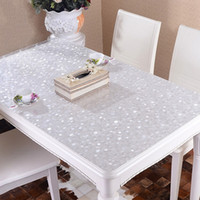 pvc table cloth - PVC Tablecloths Home Party Table Cloth Transparent Pattern Soft Glass Tablecloth for Home Decor JM0115 smileseller