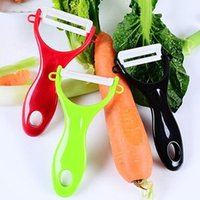 Wholesale 2016 high qulity colorful Design Colorful Fruit Vegetable Potato Ceramic Peeler Kitchen Tool Helper