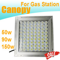 Wholesale LED Canopy Lights Gas Station Lamp W W W W W Bridgelux LED High Lumen IP65 Floodlights Panel Light Outdoor Lights